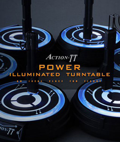 Action-TT Power Illuminated Turntable Sixth Scale Figure Stand