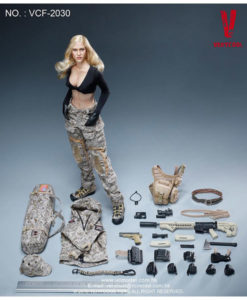 Digital Camouflage Women Soldier Max Sixth Scale Figure