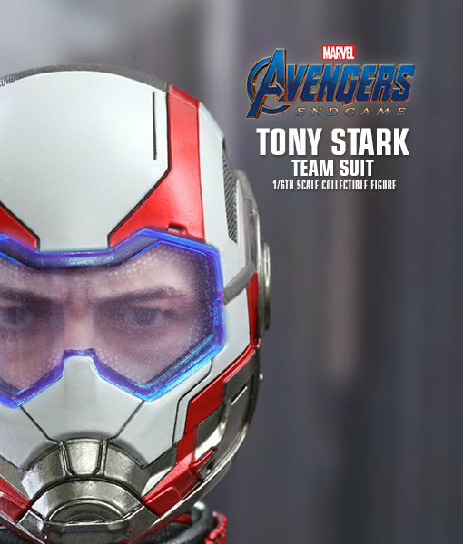 Avengers Endgame Tony Stark Team Suit Sixth Scale Figure MMS