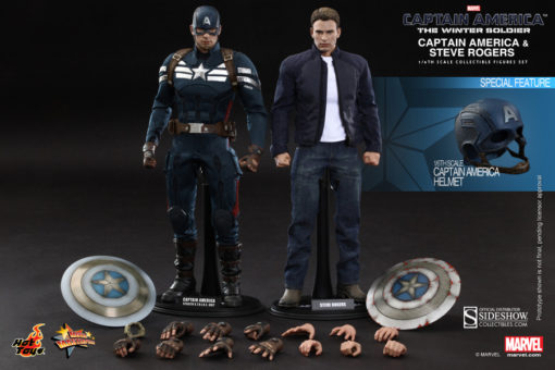 Captain America and Steve Rogers Sixth Scale Figure Set MMS