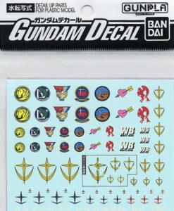 Gundam Decal Set Earth Federation