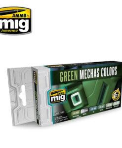 AMIG7149 Green Mechas Colors AMMO Mig