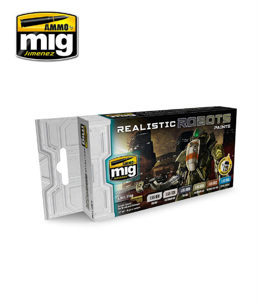 AMIG7156 Realistic Robots Sci-Fi Colors by AMMO Mig