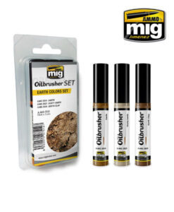 AMIG7512 Earth Colors Oilbrusher Set AMMO Mig