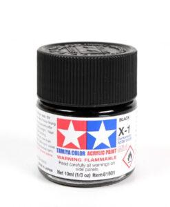 Tamiya 81501 Acrylic Mini X-1 Black