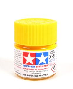 Tamiya 81508 Acrylic Mini X-8 Lemon Yellow