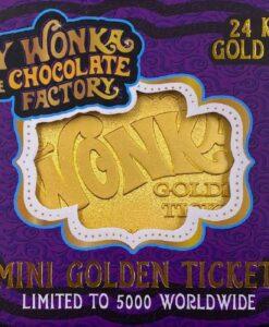 Willy Wonka Mini Golden Ticket