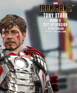 Tony Stark Mark V Suit Up Version Deluxe Action Figure