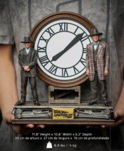 Marty Doc Clock Deluxe Art Scale Statue Iron Studios