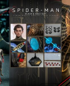 Spider-Man Black Gold Suit Sixth Scale Figure MMS