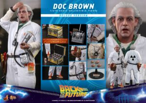 Back to the Future Doc Brown Deluxe Sixth Scale Figure MMS