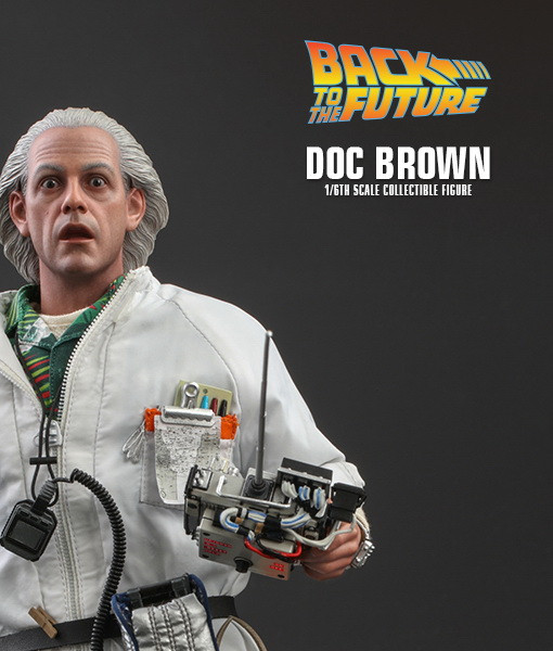 Back to the Future Doc Brown Sixth Scale Figure MMS